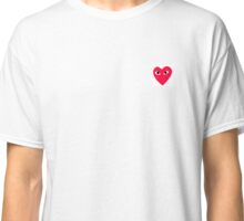 Red Heart Love T-shirt White Classic T-Shirt