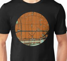 Buenos Aires city map orange Unisex T-Shirt