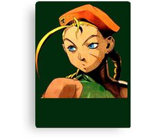 Cammy  streetfighter chick Canvas Print