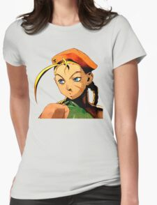 Cammy  streetfighter chick Womens Fitted T-Shirt