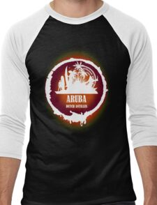 Aruba Sunset  Men's Baseball ¾ T-Shirt