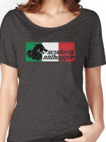 Scuderia Nidhoggur & Italian Flag Women's Relaxed Fit T-Shirt