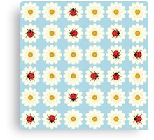 Ladybugs pattern Canvas Print