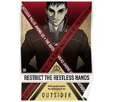 The Outsider walks among us Poster