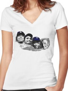 Dodgers Mt. Rushmore Women's Fitted V-Neck T-Shirt