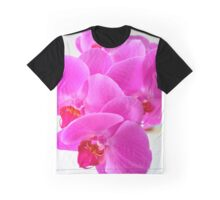Pink Greenfield Sweetheart Orchids Graphic T-Shirt