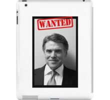 WANTED: RICK PERRY iPad Case/Skin