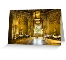 Interiors of the Grand Palace in Pavlovsk Greeting Card
