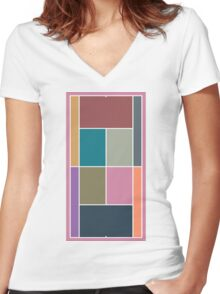 Court Pantone 2015 Women's Fitted V-Neck T-Shirt