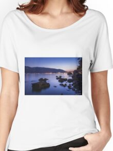 Rocks and Calm Sea Women's Relaxed Fit T-Shirt