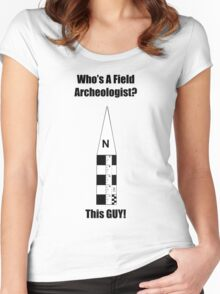 Field Archeologist Guy Women's Fitted Scoop T-Shirt