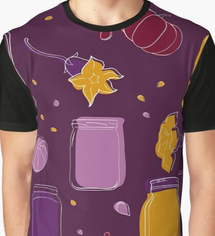 Pumpkin jam and slices seamless pattern Graphic T-Shirt
