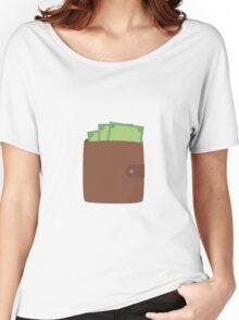 Wallet with money Women's Relaxed Fit T-Shirt