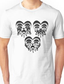 Crying Heart See, Hear, and Speak No Evil  Unisex T-Shirt