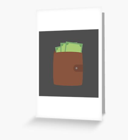 Wallet with money Greeting Card
