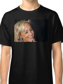 Blond Woman Smiling Classic T-Shirt