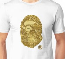BAPE | Gold Foil ® | White Background | 0% Opacity | High Quality! Unisex T-Shirt