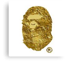 BAPE | Gold Foil ® | White Background | 0% Opacity | High Quality! Canvas Print