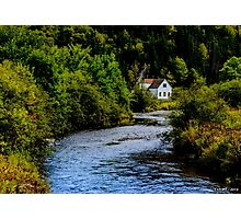 House on Margaree River Photographic Print