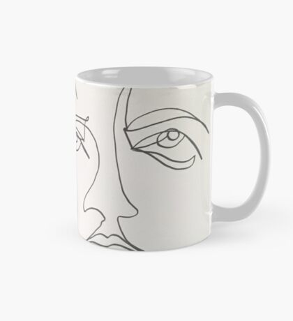 One Line Two Faces Mug
