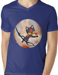 Litten Mens V-Neck T-Shirt