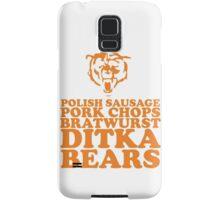 Sausage. Ditka. Bears. Samsung Galaxy Case/Skin