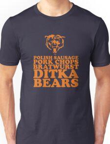 Sausage. Ditka. Bears. Unisex T-Shirt