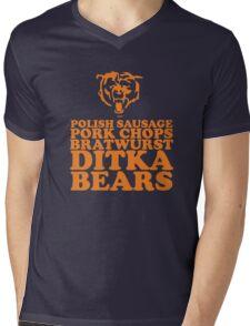 Sausage. Ditka. Bears. Mens V-Neck T-Shirt