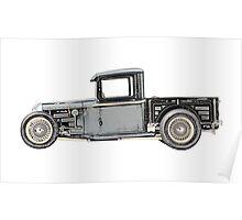 1932 Ford Custom Pickup Truck - RatRod Poster