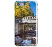 Bridge Over Autumn Waters iPhone Case/Skin