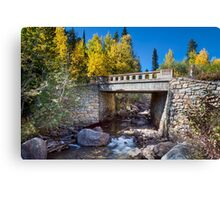Bridge Over Autumn Waters Canvas Print