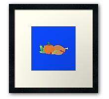Thanksgiving Turkey and Pumpkin Framed Print
