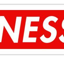 Finesse | Box Logo | Striped | White Background | High Quality! Sticker