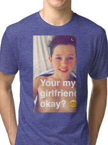Jacob Sartorius you're my girlfriend Tri-blend T-Shirt