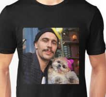 james franco and dog with sombrero  Unisex T-Shirt