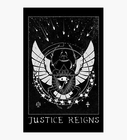Pharah Justice Reigns Tarot Card Photographic Print