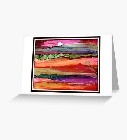 """Many Moons Ago"" - Colorful, Stunning, Original Artist's Creation Greeting Card"