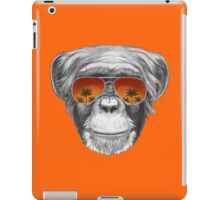 Monkey with mirror sunglasses iPad Case/Skin