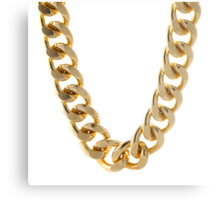 Gold Chain Metal Print
