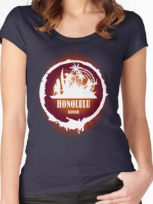 Summer Day At The beach Honolulu Women's Fitted Scoop T-Shirt