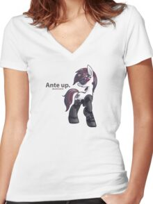 Ante Up Women's Fitted V-Neck T-Shirt