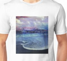Sea Ocean quote by Longfellow  Unisex T-Shirt