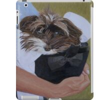 """I Got Carried Away"" Puppy Dog in Equestrian Helmet Painting iPad Case/Skin"
