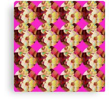 Flower Pattern with Pink Accents Canvas Print