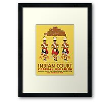 Vintage poster - Indian Court Federal Building Framed Print