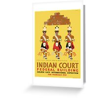 Vintage poster - Indian Court Federal Building Greeting Card