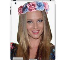 AJ Cook with flower crown iPad Case/Skin