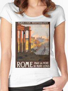 Vintage poster - Rome Women's Fitted Scoop T-Shirt