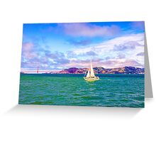 A Golden Sail Greeting Card