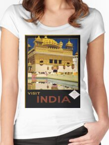 Vintage poster - India Women's Fitted Scoop T-Shirt